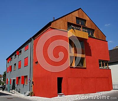 Red house landscape