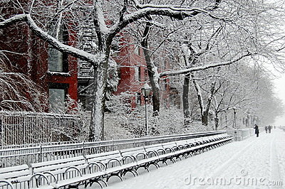 Red House in the snow