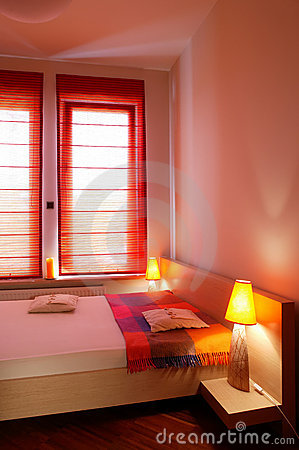 Red Hue Bedroom