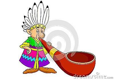 Red Indian cartoon