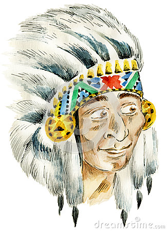 Red Indian chief
