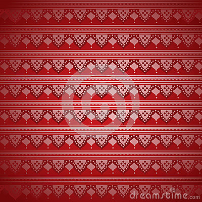 Red Indian Henna Pattern Wallpaper Stock Vector - Image ...