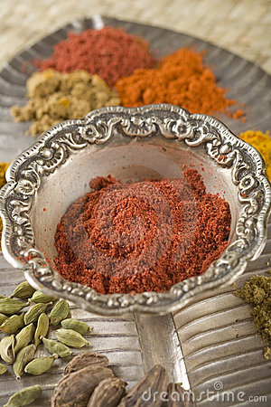 Red Indian spices, Tandoori Masala.