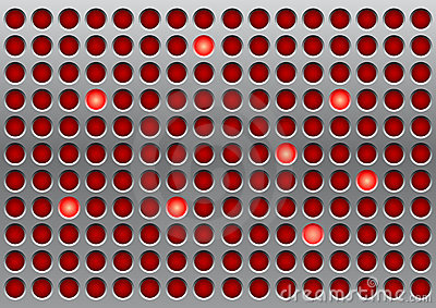 Red indicator lights
