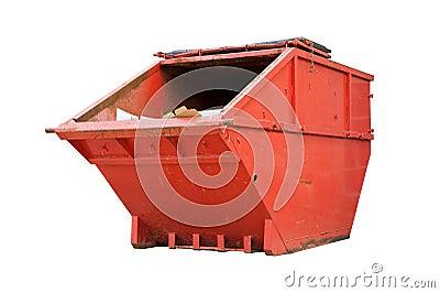 Red Industrial Waste Bin