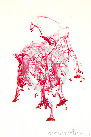 Red ink splash