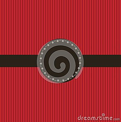 Red invitation card design