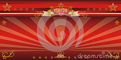Red invitation circus