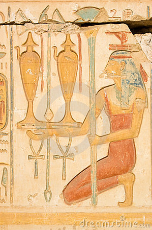 Red Isis with wine, Ancient Egypt