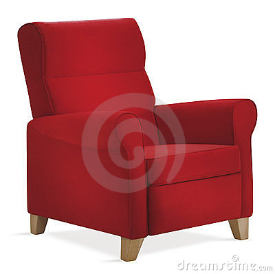 Free Red Isolated Armchair Stock Photography - 23771152