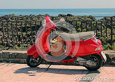Red Italian Vespa