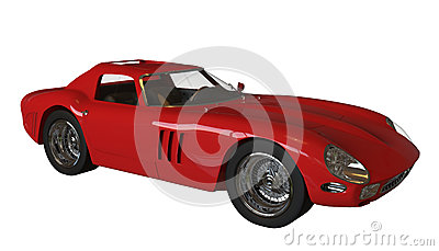 Red italian vintage race car Editorial Photo