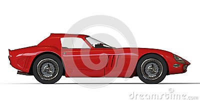 Red italian vintage race car Editorial Image