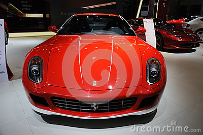 Red Italy Ferrari 599 gtb fiorano Editorial Stock Image