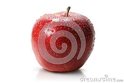 Red juicy apple