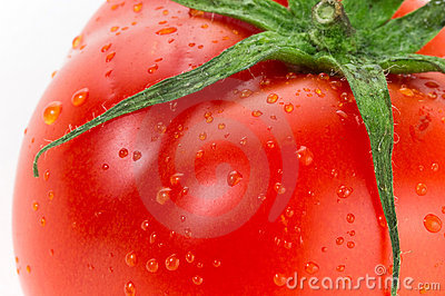 Red juicy tomato
