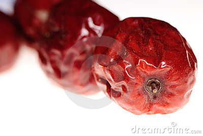 Red jujube isolated