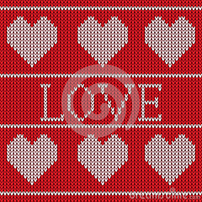 Red Knitted Sweater Pattern Royalty Free Stock Image - Image: 31703026