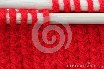 Red knitting