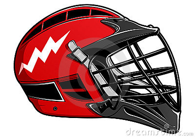Red Lacrosse Helmet EPS
