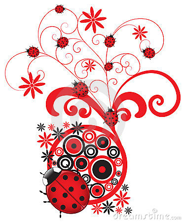 Red Ladybug Flourish