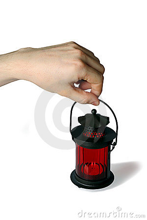 Free Red Lamp Royalty Free Stock Image - 4087226