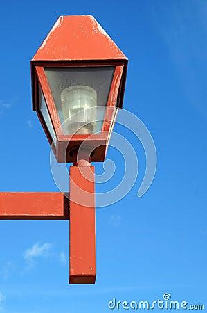 Red Lamp post