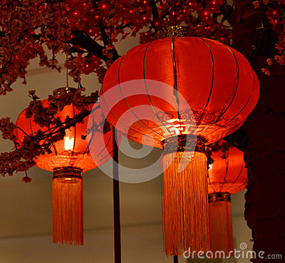 Red lantern Chinese New Year