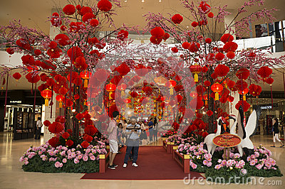 Red Lantern decoration Editorial Stock Image