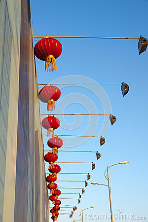 Red lanterns and lamps