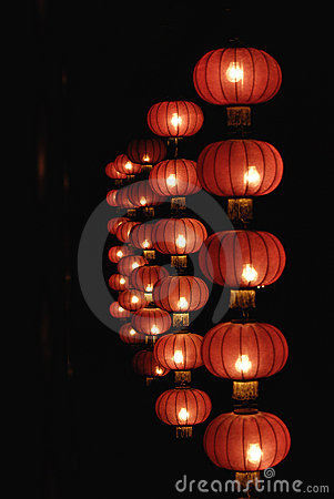 Free Red Lanterns Of China Royalty Free Stock Photography - 11758827