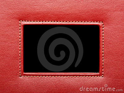 Red leather frame