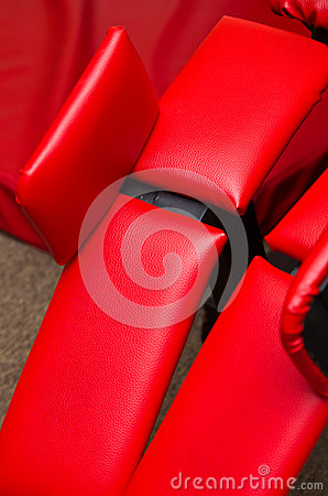 Red leather gym equipment