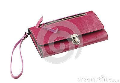 Red leather lady purse