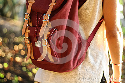 Red Leather Satchel Backpack Free Public Domain Cc0 Image