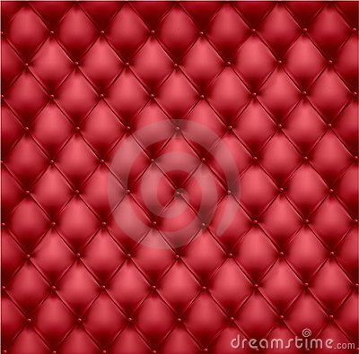 Red leather upholstery.