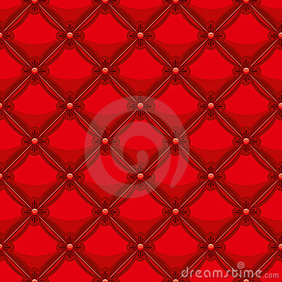Red leather upholstery