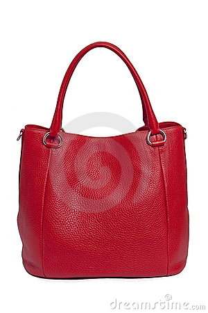 Red leather woman bag