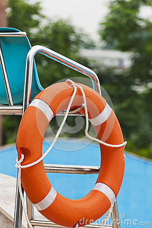 Free Red Life Buoy Stock Image - 25242001