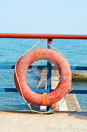Red Lifebuoy in front