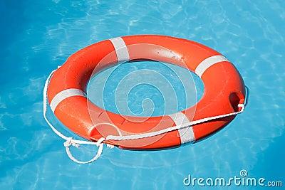 Red lifesaving float