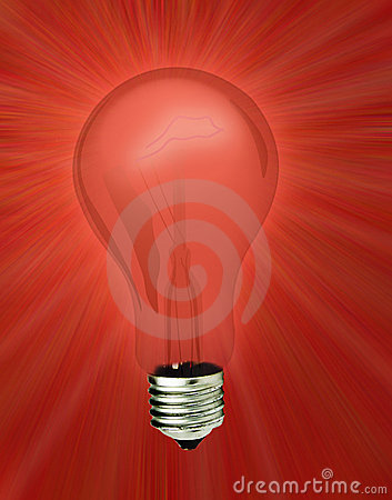 Red light bulb