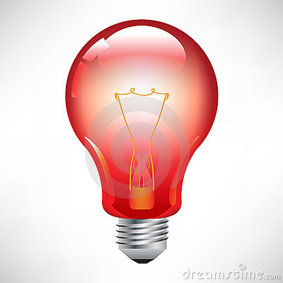 Free Red Light Bulb Royalty Free Stock Photography - 21542277