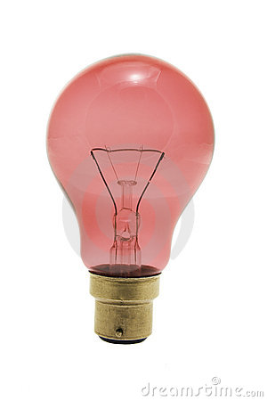 Free Red Light Bulb Stock Photography - 9211512