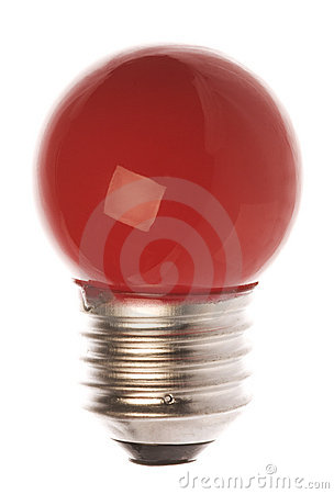 Free Red Light Bulb Isolated Royalty Free Stock Images - 8772369