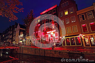 Red Light District in Amsterdam Netherlands