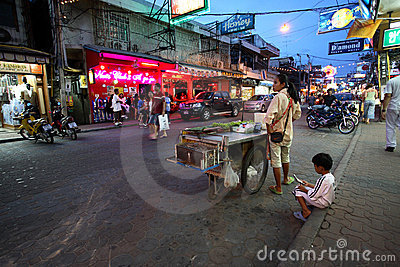 Red light district in Pattaya Editorial Stock Image