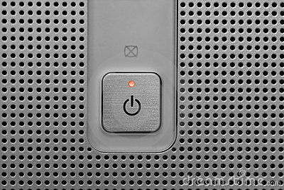 Red light power button in electronic device