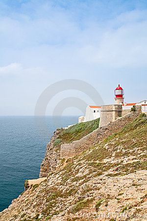Red lighthouse on