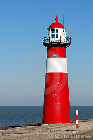 Free Red Lighthouse Royalty Free Stock Photography - 18705577